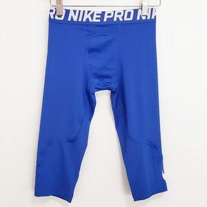 NIKE Pro Dri-Fit Boy Blue Capri Leggings